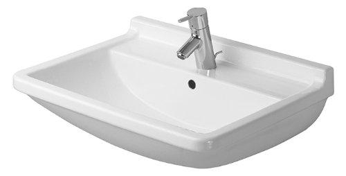 Preisvergleich Produktbild Duravit Waschbecken Starck 3 Breite 65cm 1 Hahnloch, weiß 300650000
