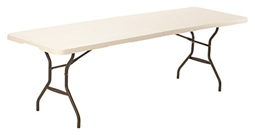 Lifetime 80270 Table Pliante en Deux 244 cm-Blanche, Blanc Granite, 244,5 x 76,1 x 73,6 cm