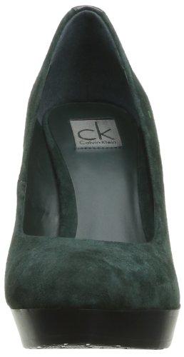 Calvin Klein MADGE KID SUEDE+PATENT N10919 Damen Pumps Grün - Forest