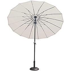 IMAGIN Shangai Parasol Ecru Poteau, Écru, 38 mm