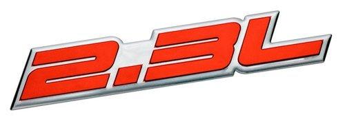 2.3L Liter Embossed RED on Highly Polished Silver Real Aluminum Auto Emblem Badge Nameplate for Honda Odyssey Accord LX DX EX SE Prelude Acura RDX iVtec CL Turbo Turbocharged Mazda3 Mazdaspeed 3 5 6 CX-7 S AWD Grand Touring Sport SUV B2300 Tribute Millenia Mitsubishi Ralliart Lancer Evolution Evo Isuzu Amigo Impulse Pickup Oasis Sedan coupe Wagon 2 3 4 5 2dr 3dr 4dr 5dr door hatchback turbo turbocharged