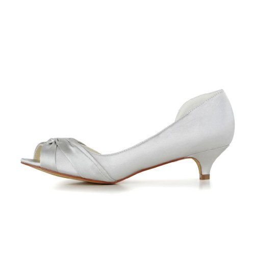 Jia Jia Wedding 0114 chaussures de mariée mariage Escarpins pour femme silver