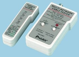 MULTI-NETWORK CABLE TESTER 3PK-NT007 By PRO'S KIT -