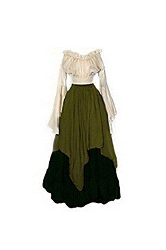 Mittelalter mittelalterliche Ritterspiele Burgfest Schlofest Ritter Zofe Burgfulein Prinzessin Damen grn (Kostüme Viktorianische Prinzessin)