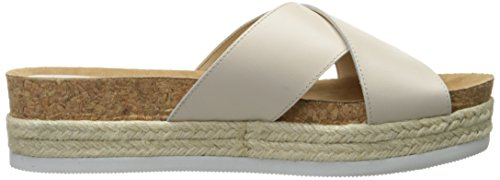 Nine West Amyas Leather Platform Sandal Off White