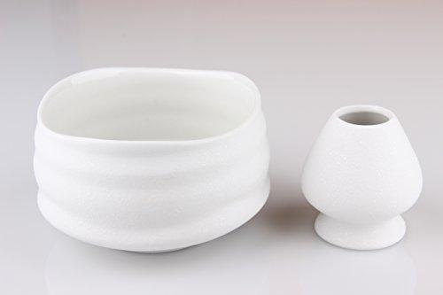 Goodwei Matcha Schale für japanische Teezeremonie (mit Besenhalter, Miyuki)