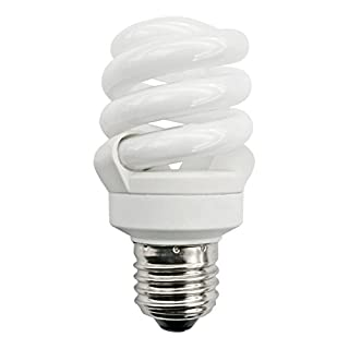 Bright Full Spectrum Energy Saver Natural Cool Daylight (6500K) low energy 11w = 55w (was 60w) Edison Screw ES E27good for SAD (Seasonally Affected Disorder) Compact Twisted Spiral Light Bulb