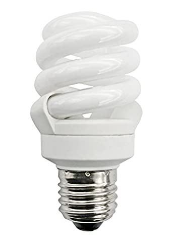Bright Full Spectrum Energy Saver Natural Cool Daylight (6500K) low energy 11w = 55w (was 60w) Edison Screw ES E27good for SAD (Seasonally Affected Disorder) Compact Twisted Spiral Light