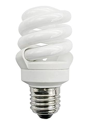 Energiesparlampe, kompakt, verdreht, spiralförmig, kühles Tageslicht, 6500°K, niedriger Energieverbrauch 11°W