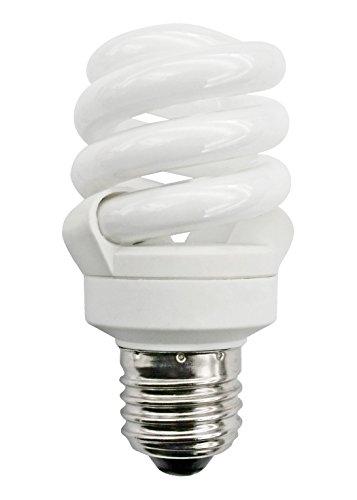 Energiesparlampe, kompakt, verdreht, spiralförmig, kühles Tageslicht, 6500°K, niedriger Energieverbrauch 11°W = 55°W, Edison Schraube ES E27, gut gegen Winterdepression) (11w Medium Base)
