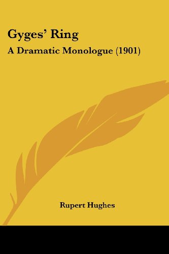 Des Ring Gyges (Gyges' Ring: A Dramatic Monologue (1901))