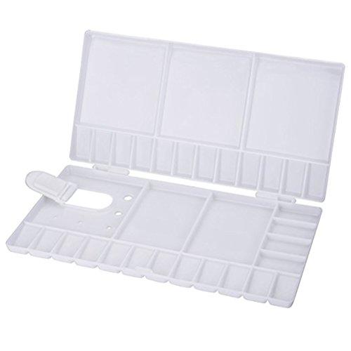 rosenice Streichpalette Künstlerfarbe Mischpalette für Aquarell, Tablett-Klapptisch (weiß) - Kunststoff Breite Klapptisch
