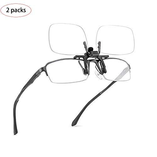YOCC Lesebrille mit durchsichtiger Linse und Brillen zum Anstecken Tragbare Lesebrille +1.00 bis +3.50 Dioptrien können zum Fahren im Freien aufgedreht Werden,1.00