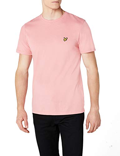Lyle & Scott Herren Crew Neck T-Shirt, Pink Shake, XL
