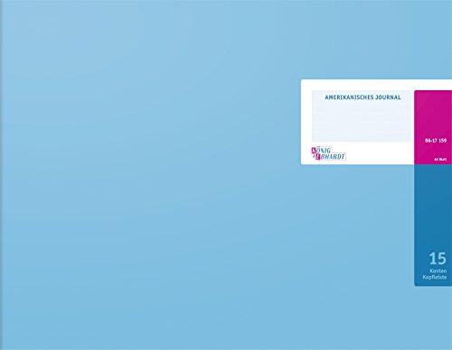 König & Ebhardt 8617159-8315K48KL Amerikanische Journale (420 x 332 mm, 48 Blatt) hellblau -