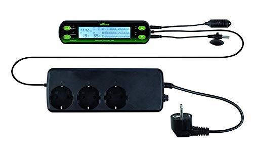 AIDO Termostato ed Igrostato Digitale, Interruttore della Temperatura di Riscaldamento e Raffreddamento,3circuits