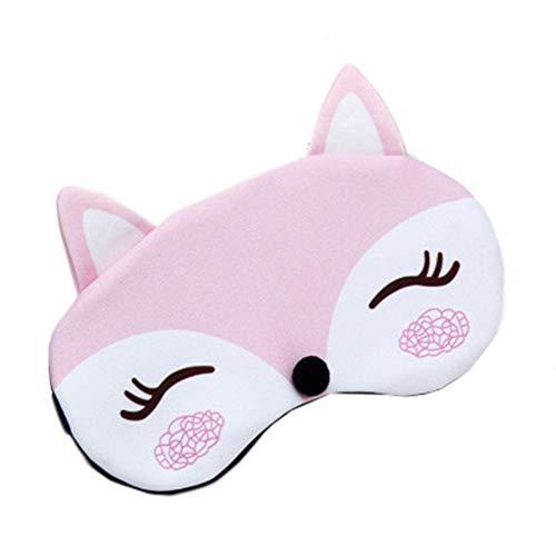 LJSHU Augenmasken, Männer und Frauen natürliche Baumwolle weich und komfortabel Sommer Schattierung heiß und kalt Doppel niedlichen Cartoon Verstellbarer Schultergurt Schlaf Augenmaske,Pink