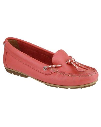 Riva Slip en cuir basse Riva Gorda dames chaussures Rouge - Corail