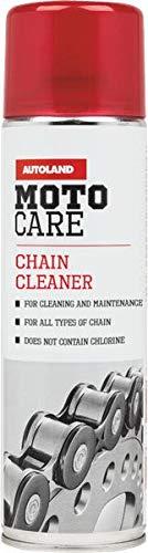AUTOLAND Detergente per Catene, detergente per Moto e Spray sgrassante, Senza Cloro, 500 ml