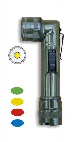 Winkeltaschenlampe, 17,5cm, mit 4 austauschbaren Linsen, Grün