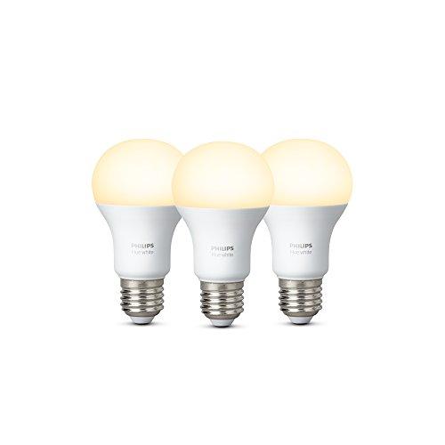 Foto Philips Lighting Hue White Lampadine LED, E27, 9 W, Bianco, 2 Pezzi [Classe...