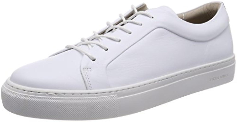 JACK  JONES Herren Jfwsputnik Leather White Sneaker