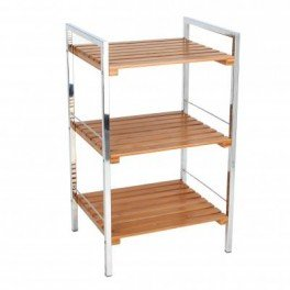 Shelving Unit with 3 Shelves Bamboo