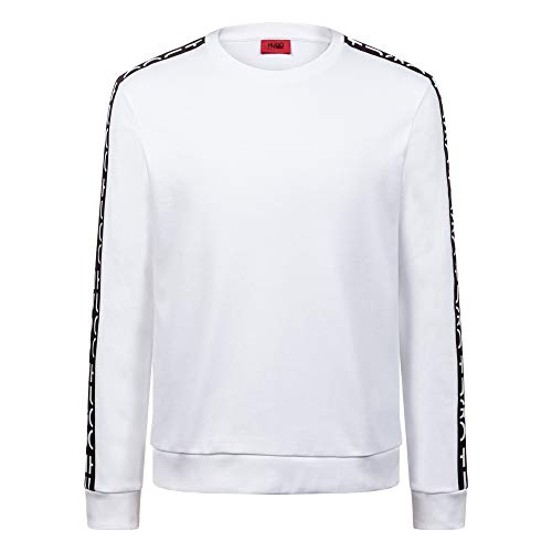 HUGO Herren Sweatshirt Doby Weiß XL