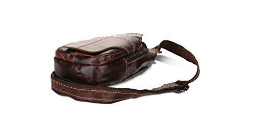 Joyir Sling Bag Brust Tasche Mssenger Schulter Rucksack Mini fasst iPad Red Brown