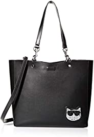 Karl Lagerfeld Paris Adele Applique Tote Bag, Black Sequin