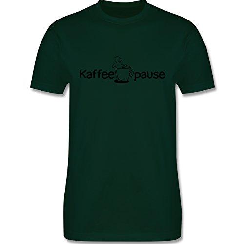 Küche - Kaffeepause - Herren Premium T-Shirt Dunkelgrün
