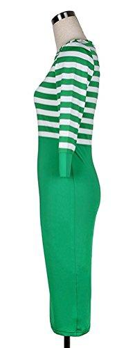 SunIfSnow - Robe spécial grossesse - Moulante - Uni - Manches 3/4 - Femme green