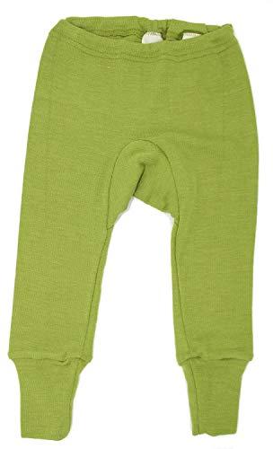 Cosilana Baby Leggings, Größe 62/68, Farbe Grün, 70% Wolle und 30% Seide kbT
