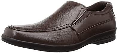 BATA Men's Dune Slip On Brown Leather Loafers-9 UK (43 EU) (8544337)