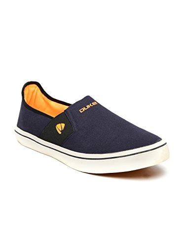 Duke Men Navy Blue Solid Slip-on Sneakers