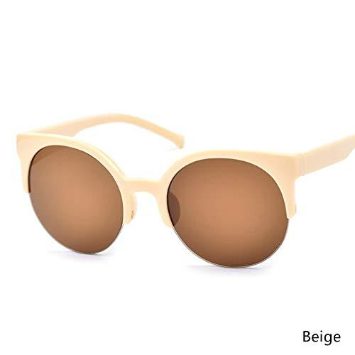 Aprigy - Weinlese-Frauen-Sonnenbrille-Männer-Schwarz-Leopard-Runde Feld Cat Eye Brillen Female Eyewear Spiegel Sun Glasses [EIN]