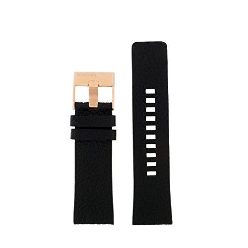 Diesel Uhrenarmband 26mm Leder Schwarz Uhrband DZ-4347 / LB-DZ4347