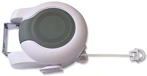 dryzem ligne de lavage, vêtements, Linge Rétractable Line, double line-30m (98ft) Total peut être utilisé comme une corde à linge rétractable, et séchoir à linge d