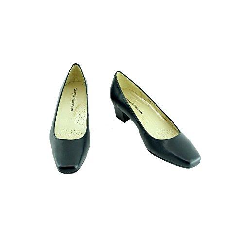 Escarpins d'Hotesses Blau Schuhe Stewardess Edipo Leder Blau