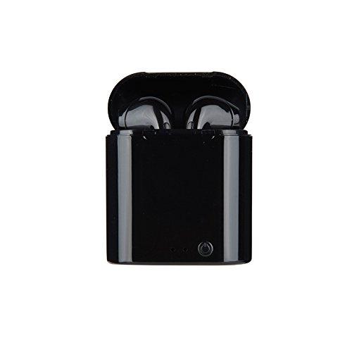 Drahtloses Headset, Akku-Bluetooth-Headset Mit Ladegerät-Patrone, Sport-Headset Und Ladegerät-Kit Echte Drahtlose Ohrstöpsel iPhone X/8/7/6/6S Und Die Meisten Android-Smartphones,Black Moto Bluetooth-headset