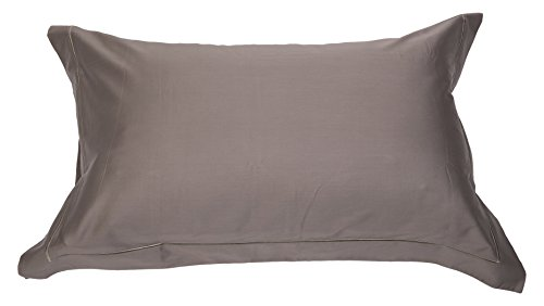 cuddledown 400thread-count reine Ägyptische Baumwolle Oxford Kissenbezügen, Mink, Standard Größe, 2Stück