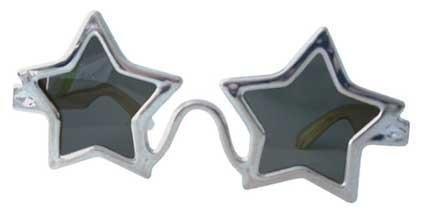 Silber Stern Elton John Sonnenbrille Brille Kostüm Accessoire