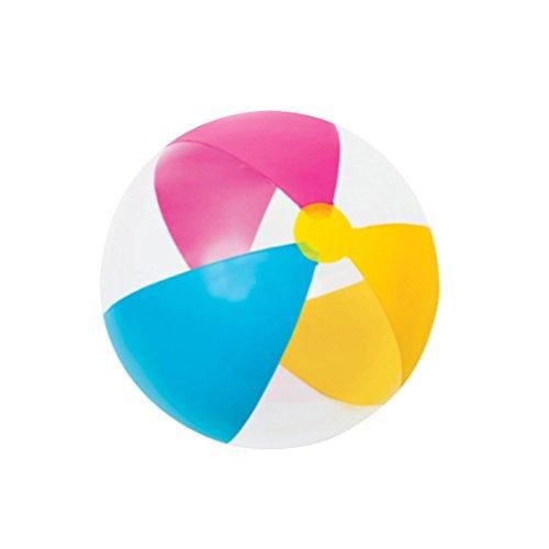 Toyvian Transparent Wasserball aufblasbarer Strandball Wasser Volleyball für Swimmingpool Party Wasserspielzeug 41cm (Zufällige Farbe)