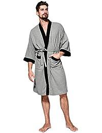 Unisex Albornoz Hombre o Mujer Primavera Verano Batas y Kimonos con Cinturón,Muy Suave Cómodo