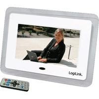 LogiLink Digitaler Bilderrahmen (17,8 cm (7 Zoll) Display,Video, MP3) weiß