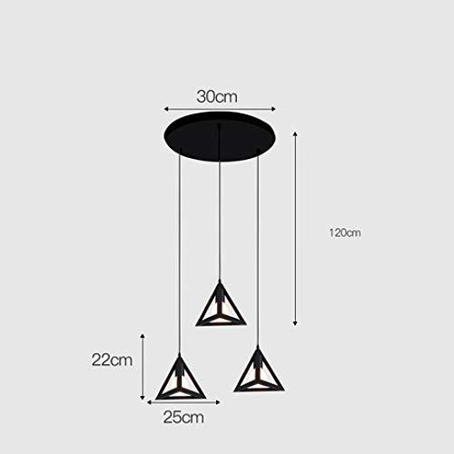 Eisen Kronleuchter Einfache moderne Schmiedeeisen Kronleuchter kreative Restaurantbeleuchtung Persönlichkeit Kronleuchter, 3L Modelle, ohne Glühbirnen 3 Liter Modell