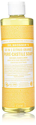 16 Unzen-orange Öl (Dr. Bronner's Liquid Soap Citrus, Flüssigseife Zitrus Orange 473 ml)