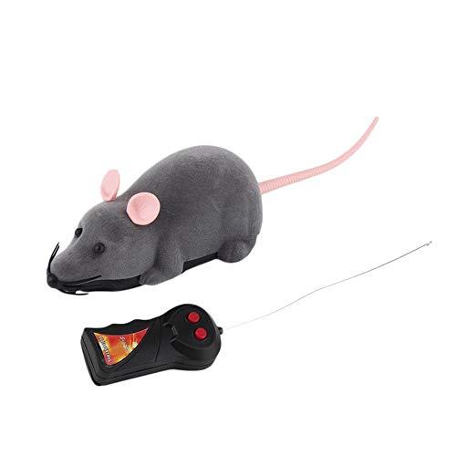 ARDUTE Drahtlose Fernbedienung Maus Kunststoff Simulation Tiere elektronische Ratte lustige Bewegung Mäuse Spielzeug Haustier Katzenspielzeug - grau