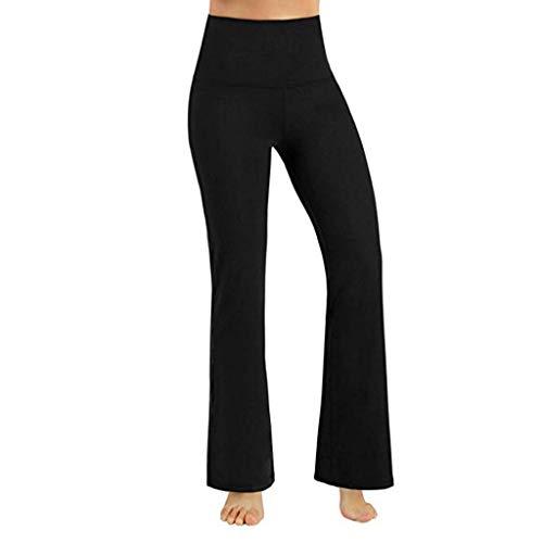 BHYDRY Frauen Yoga Hose hoch taillierte Bauch Control Workout Leggings(X-Small,Schwarz)