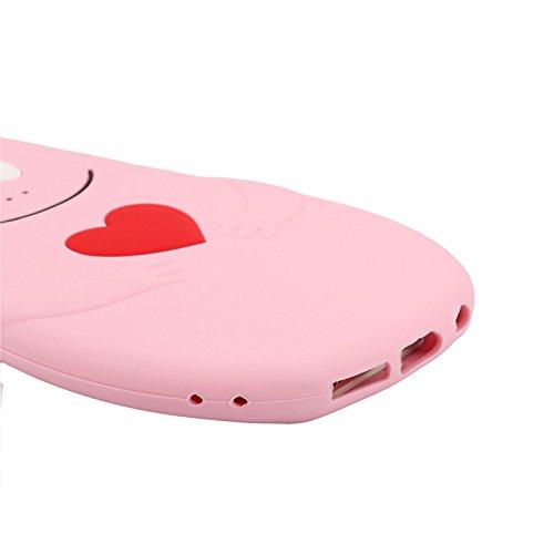 "Iphone 6 / 6S (4,7-Zoll) Hülle, Koala Group® 3D-Tiermodellen Silikon Fallschutz -Sets von ""Rainbow / weiße Katze / schwarze Katze / Love Cats / Burger Bear / Shy Affe (White Cat) BaBa"